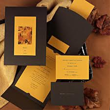 Fall Wedding Invitations for a Fall Wedding 2