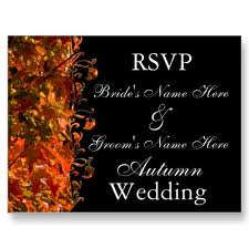 Fall Wedding Invitations for a Fall Wedding 3